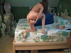 Homemade Girl alone bedroom singing solo