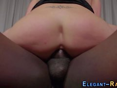 Euro maid pussy pounded
