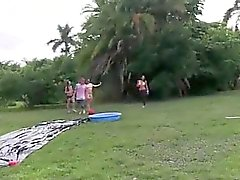 Young horny couple havingsex in outdoor