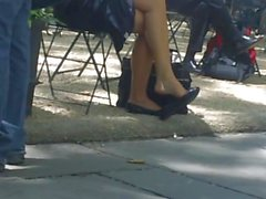 Candid Shoeplay Dangling Feet and Legs Part Two