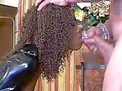 kuuma Ebony narttu lateksi