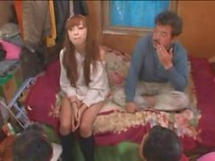 Hot Young Japanese Teen Pleasing Nasty Homeless Guys Part1