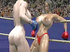 FPZ3D S vs G 3D Toon fistfight Catfight Big Tits Ensidig