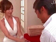 Bride gets her wedding present