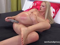 Wetandpissy - Dildo play for piss soaked blonde babe