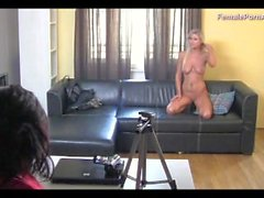 Blonde Vanessa Satisfies Female Agent