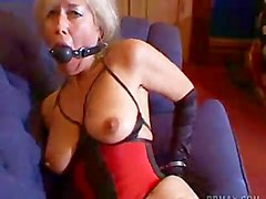Milf struggles in Bondage for you