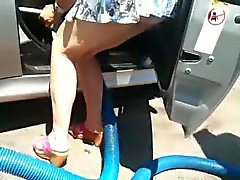 Esposa de lavagem de carro