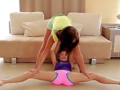 cute flexible girlfriends naked stretch