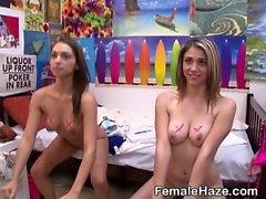 Naked College Girls Turning Up At Sorority House Hazing