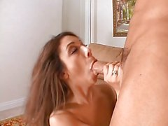 Slut in nylons doing a randy guy