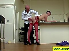 Mature stockings milf showing ass off