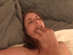 Kinky dude in a mask shoves his cock in babe's mouth and pussy