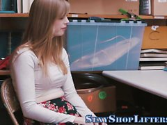 Teen shoplifter pounded