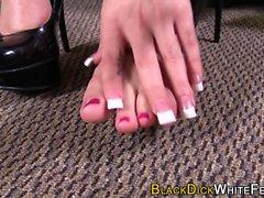 Skanks cute feet cum bbc