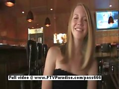 Courtney funny blonde flashing boobs