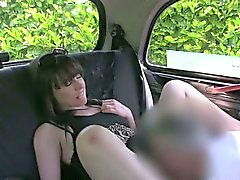 Pretty amateur pussy drilled in the backseat of a cab