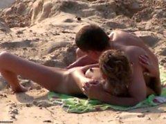 Couple on Sandy Beach #1
