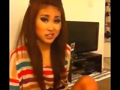 lovely asian sweetie smoking and talking nonsense
