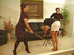 Caned kaksi Strict Ladies