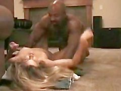 Part II: Hot Cougar cums hard on young black cock