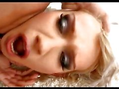 Blonde babe Bea Stiel chomps on a group of choppers and gets a major milking