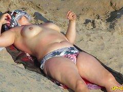 Real Voyeur Beach Amateur Big Boobs Topless MILFs Video