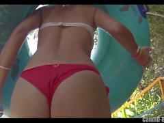 Hot Latina Thong Ass Bikini Cameltoe Beach Voyeur HD