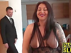 Chubby cock loving slut Nikki enjoys getting fucked hard