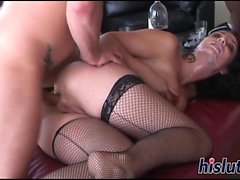 Kinky gangbang session featuring lusty Beverly Hills