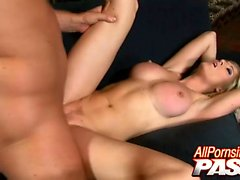 Michelle B is one hot blonde babe with big breasts that