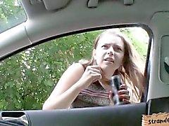 Massives Boobs Teenie Marina Visconti von einem Fremden durchgefickt