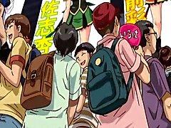 Hentai étudiante devient double pénétration avec deux mecs