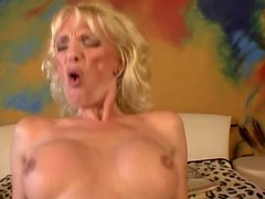 Natural tits milf hardcore with facial