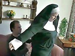 German Young Boy seduce Granny Nun to Fu - My Fuck from MILF