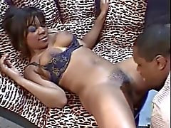 Hoe from the hood rides thick fat cock and gets her ass hole cleansed with jizz