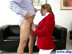 British amateur pussyfucked by an old mans hard cock and