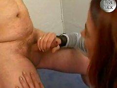 Horny mature amateur sucks and fucks horny cocks