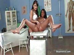 Kinky brunette doctor has a lot of fun part2