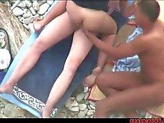 Aldatılan erkek karı halk bir plaja lanet Cuckold666 mısır