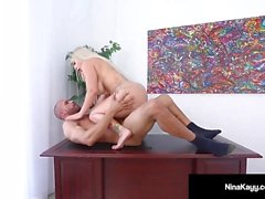 Latina Boss Nina Kayy Gets Rammed By Her Big Cock Employee!