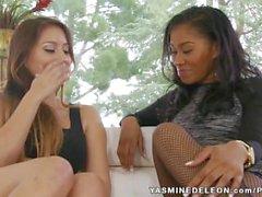 Yasmine De Leon & Bliss Dulce Lesbian Romp