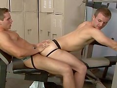 Handsome gays Cameron and Dylan humping in locker only at Suite703