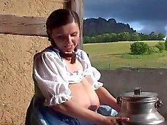 Traditionnel domestique du de lait l'allemand