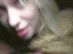 Sexy Russian blonde has public fuck