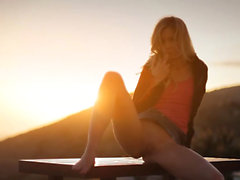 Sunset in Malibu in art finger movie