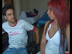 PUTA LOCURA Latin Redhead Teen fucks a guy in wheelchair