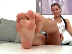 Beautiful Czech feet tickled