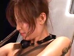 Helpless Oriental slut with tiny boobs relishes a frenzy of
