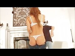 Hot Redhead Melanie Rios fucked in tight jeans